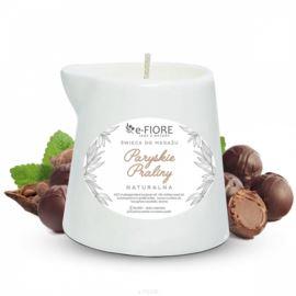 Świeca do Masażu Paryskie Praliny, E-fiore, 130 ml