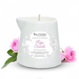 Świeca do Masażu Róża Orientu, E-fiore, 130 ml
