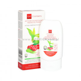 Aktywnie Oczyszczający Peeling do Twarzy, Go Cranberry, 75ml
