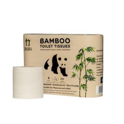 Bambusowy Papier Toaletowy 3-warstwowy, Zuzii, 6 rolek