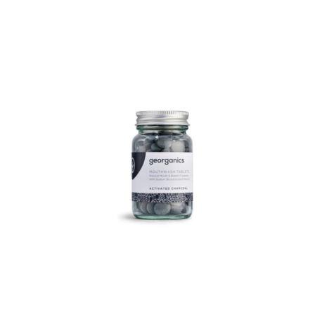 Tabletki do Płukania Jamy Ustnej z Węglem Aktywnym, Georganics, 180 tabletek