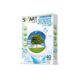 Listki Piorące i Zmiękczające Hipoalergiczne do Kolorów, Zapach Neutralny, Smart Eco Wash, 40 prań