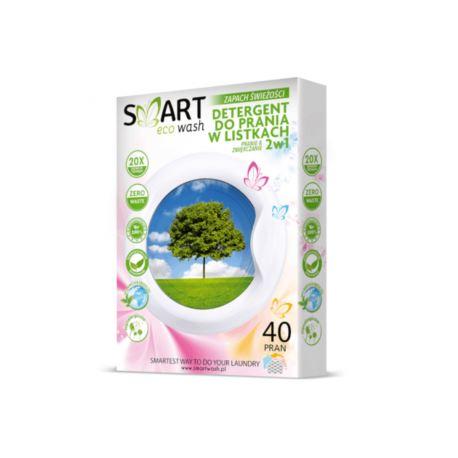 Listki Piorące i Zmiękczające Hipoalergiczne do Kolorów, Zapach Świeżości, Smart Eco Wash, 40 prań