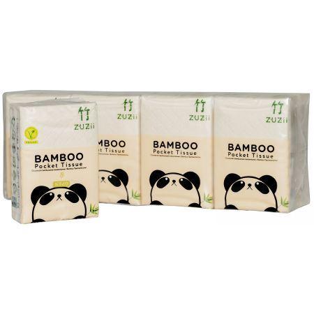 Bambusowe Chusteczki Kieszonkowe, 1 opakowanie, Zuzii