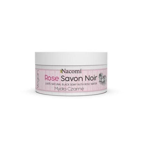 Różane Czarne Mydło z Wodą Różną, Savon Noir, Nacomi, 125g