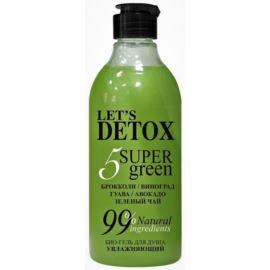 Let's Detox, Żel pod Prysznic Nawilżający 5 Super Green, Body Boom, Russkaja Kosmetika, 380ml