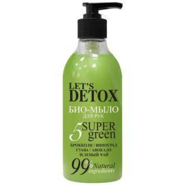 Let's Detox, Odświeżające Mydło do Rąk, 5 Super Green, Body Boom, Russkaja Kosmetika, 380ml