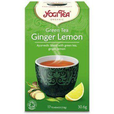 Herbata Zielona z Imbirem i Cytryną, Yogi Tea, 17 saszetek