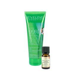 Składniki do Żelu Antybakteryjnego, Żel Eveline Cosmetics 250ml, Olejek Eteryczny z Drzewa Herbacianego, Nature Queen 10ml