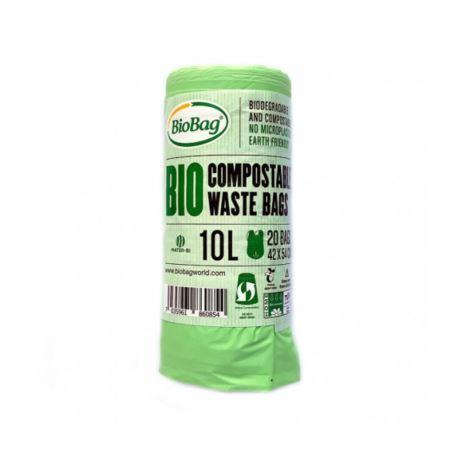 Biodegradowalne Worki na Śmieci, Skrobia Ziemniaczana, BioBag, 10l