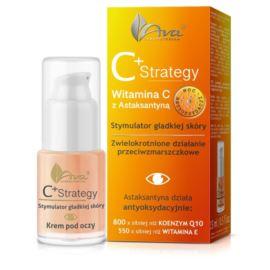Krem pod Oczy C+ Strategy, Stymulator Gładkiej Skóry, Witamina C z Astaksantyną, Ava Laboratorium, 15 ml