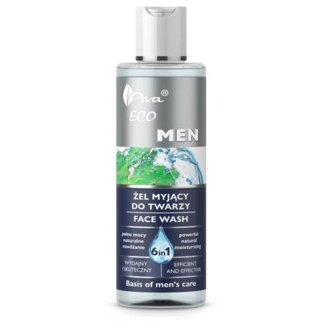 Żel Myjący do Twarzy 6w1 dla Mężczyzn, Eco Men, Ava Laboratorium, 200 ml