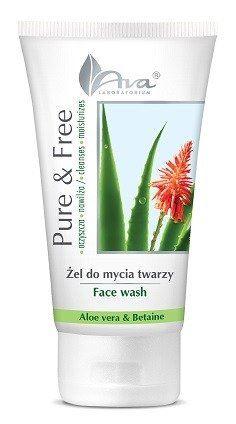 Łagodny Żel do Mycia Twarzy Pure & Free, Aloes i Betaina, Ava Laboratorium, 150 ml