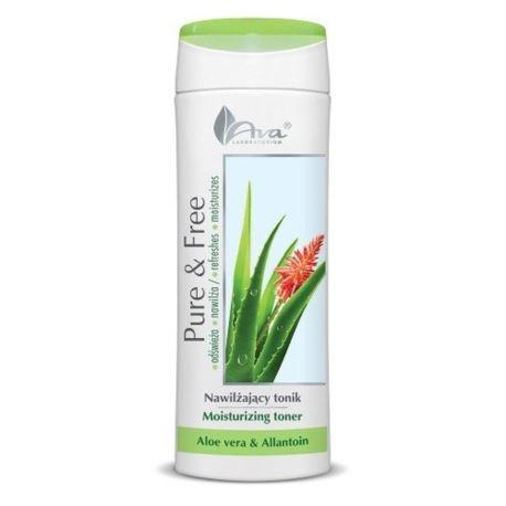Nawilżający Tonik do Twarzy Pure & Free, Aloe Vera i Allantoina, Ava Laboratorium, 250 ml