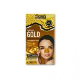 Złote Paski Oczyszczające na Nos, Beauty Formulas, 6 szt.