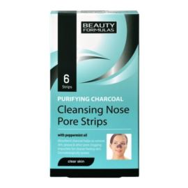Głęboko Oczyszczające Paski na Nos, Węgiel Aktywny, Beauty Formulas, 6 szt.
