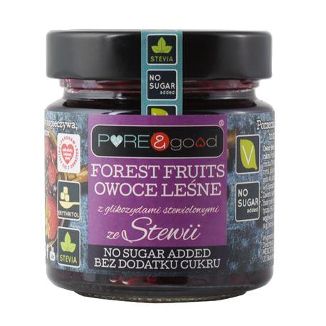 Owoce Leśne ze Stewią bez Cukru, Pure&Good, 200g