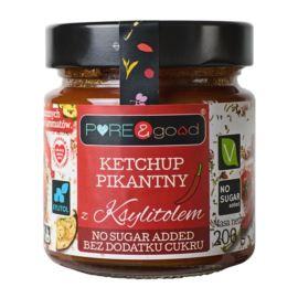 Ketchup Pikantny z Ksylitolem, bez Cukru, Pure&Good, 200g