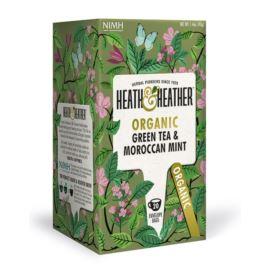 Organiczna Zielona Herbata z Marokańską Miętą, Heath & Heather, 20 szt.