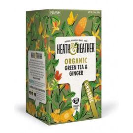 Organiczna Zielona Herbata z Imbirem, Heath & Heather, 20 szt.