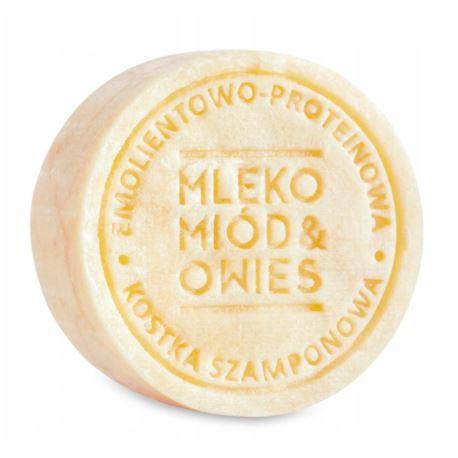 Szampon w Kostce Mleko-Miód-Owies, Ministerstwo Dobrego Mydła, 85 g