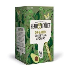 Organiczna Zielona Herbata z Avocado, Heath & Heather, 20 szt.